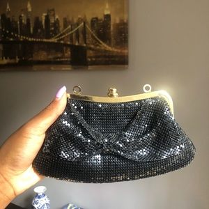 Vintage sequin black and gold purse